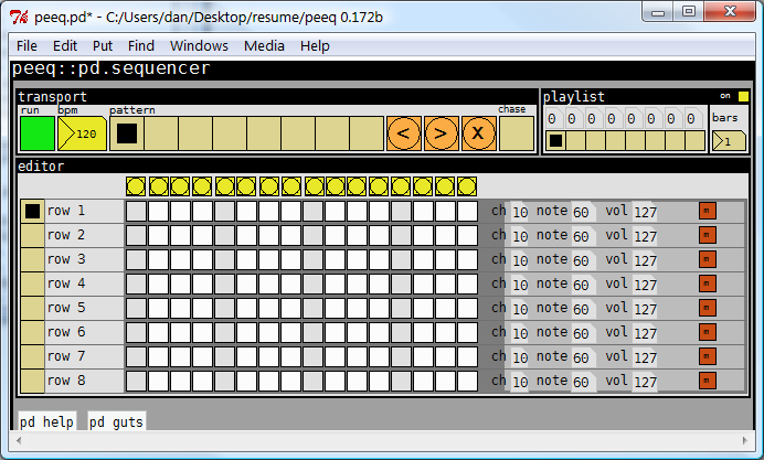 Peeq: A MIDI sequencer in PD | Dan Newcome on technology